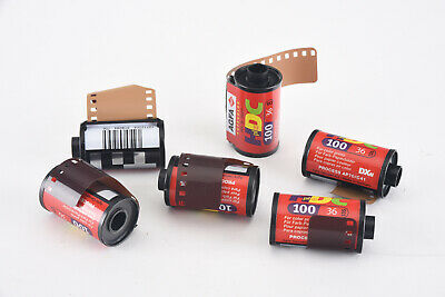 Agfa HDC Plus 100 35mm Film for Color Prints 36 Exposure 6 Rolls EXPIRED V99