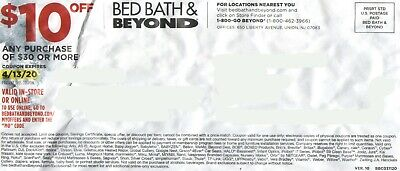 BBB Bed Bath Beyond $10 off purchase of $30 or more expires 3/30 coupon code