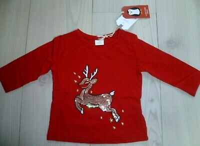 NEXT baby girls Christmas top 6-9 months