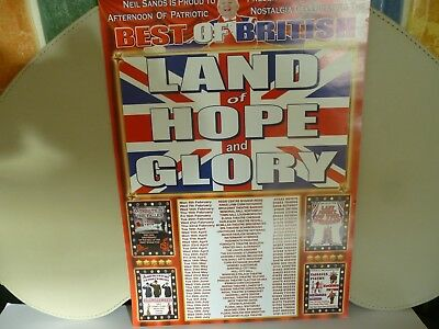Land of Hope and Glory...Tour Poster...8.25 x 11.75 inches approx...free P+P