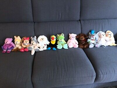 Collection of 12 Beanie Kids Stuffed Bear Toys.