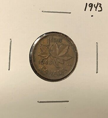 1943 - Canadian Coin - Small One Cent - Penny - Canada