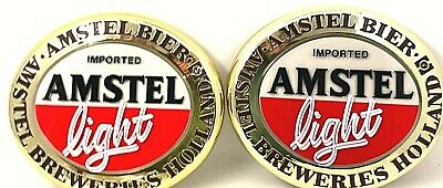 2-Imported Amstel Light Bier Sign Amstel Bier Breweries Holland Rare to Find New