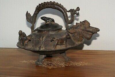 Antique Chinese Qing Dynasty Teapot,Dragon Motif