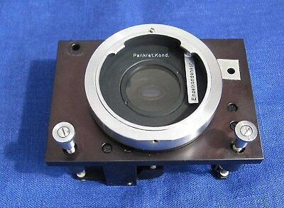 Carl Zeiss Jena microscope part mount condenser