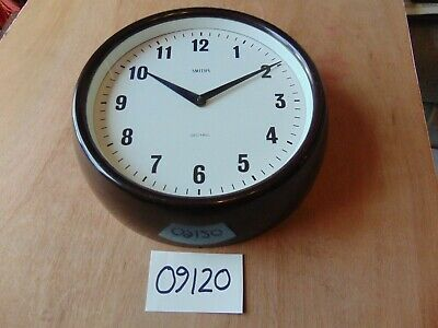 VINTAGE SMITHS SECTRIC BAKELITE ELECTRIC WALL CLOCK 1940's 11 INCHES very good