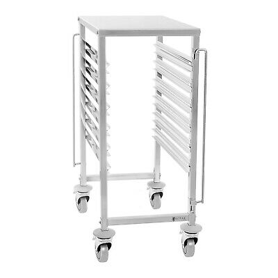 Kitchen Wagon Bread Trolley 6 Gn Containers Stainless Steel Mobile Professional