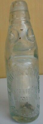 Nice 6oz dobson codd clear glass BICKFORD & SONS ADELAIDE PROPRIETORS LIMITED
