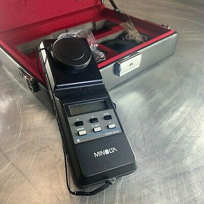 Minolta CL-100 Chroma Meter In Original Case + Leather Device Case Chromameter