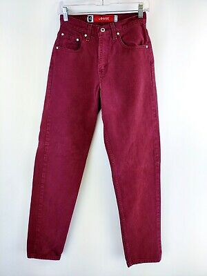 VTG Levi's Women's Silvertab Loose Red Denim High Rise Jeans Size 3 JR