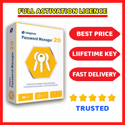 Steganos Password Manager 20 🔑 Genuine Lifetime Lisence ⭐ Fast Dilevery
