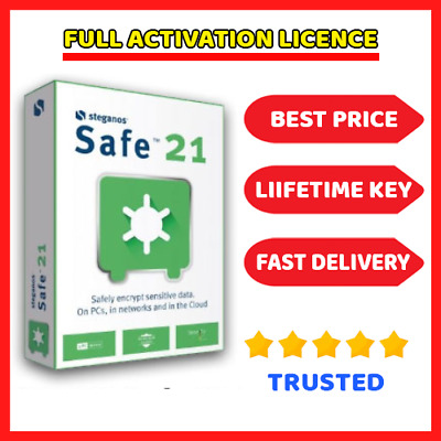STEGANOS Safe 21 🔑 Genuine Lifetime Lisence ⭐ Fast Dilevery