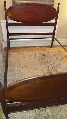 Antique Stunning Mahogany Double 4ft6 Bed Frame * Collection only Ystalyfera