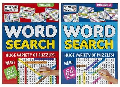 A4 Large Print Word Search Crossword Mind Maze Puzzle Book