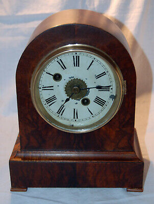 Winterhalder and Hofmeier Precision Black Forest Arch Top Mantle Alarm Clock