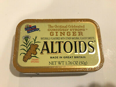 Very Rare!! Altoids Ginger ~ One Sealed Discontinued Flat Top Collectors Tin ~