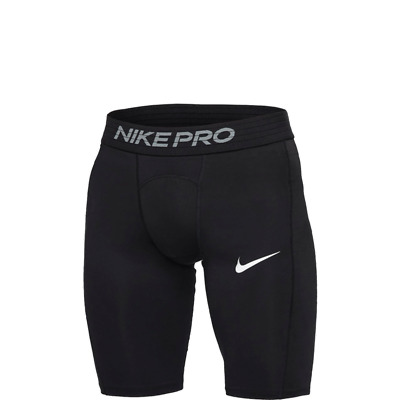 Nike Pro Long Shorts Men's Athletic Black Compression Sport Shorts - BV5637-010