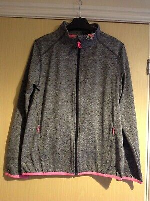 NX girls gray sports zip up jacket age 15 years