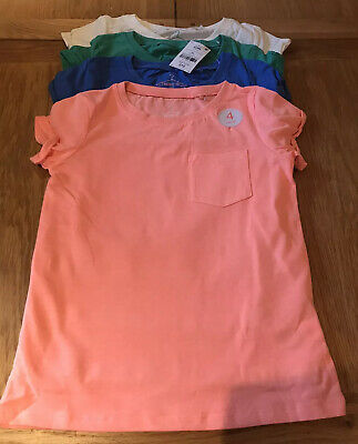 BNWT Girls Next T Shirts 4 Pack - Age 9 Years - Bundle Cream Blue Green