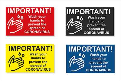 Safety Sign, Wash your hands to prevent Infection with Self-Adhesive