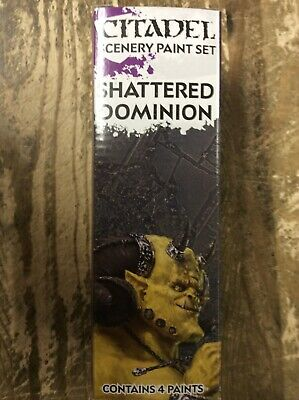 Citadel Scenery Paint Set Shattered Dominion Games Workshop New