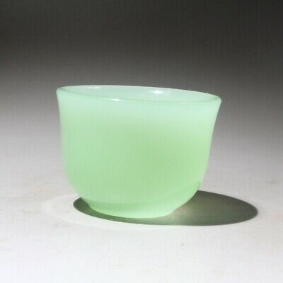 Collectable Chinese Handwork Natural Jade Carve Precious Delicate Rare Tea Bowl