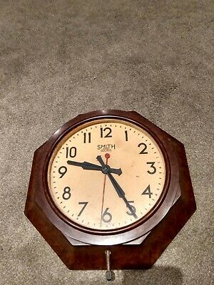 vintage retro rare Smith Sectric octagonal Bakelite wall clock