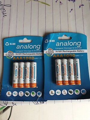 8  Piles rechargeables batteries accus AAA/ NiMH 1000 1.2 V