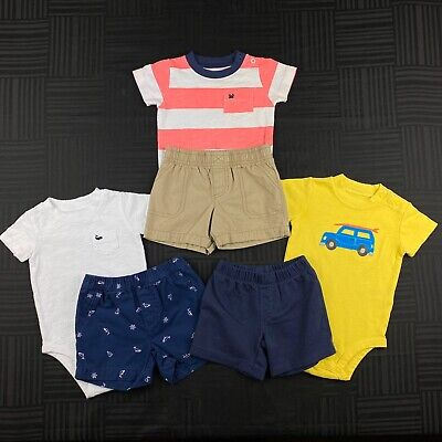 Carters Infant Baby Boy 9 Months Spring Summer Outfits Mixed Lot Set
