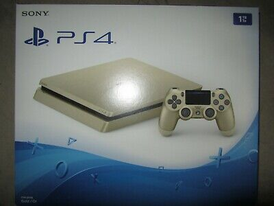 Brand New- PlayStation 4 Slim Limited Edition 1TB Gold- Firmware Ver. 4.55