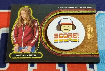 Topps Stranger Things Welcome to the Upside Down #8M Max Mayfield Button 15/99