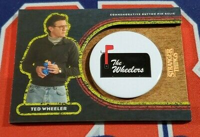 Topps Stranger Things Welcome to the Upside Down #TW Ted Wheeler Button 97/99