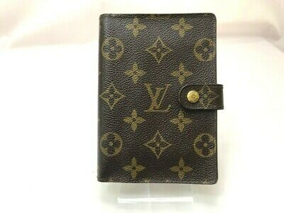 Authentic Louis Vuitton Diary Cover Agenda PM Browns Monogram R20005 5608914