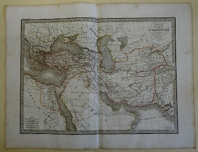 Empire of Alexander the Great Greece Persia Egypt 1829 Lapie large folio map