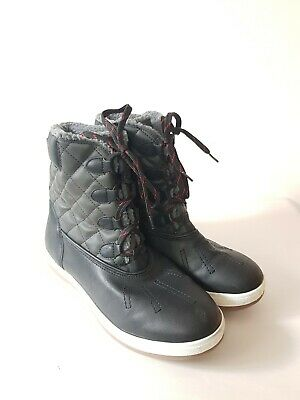 Mossimo Supply Co. Unisex High Top Black Faux Leather Sneakers Shoe Size 11 WARM