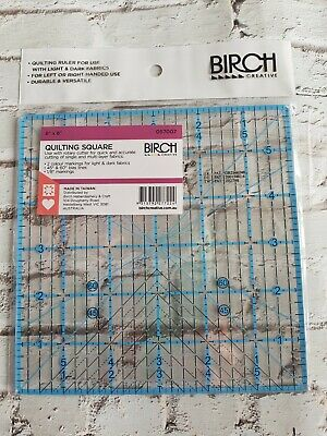Birch Patchwork Ruler, Quilting Ruler, Quilting Square 6in x 6in