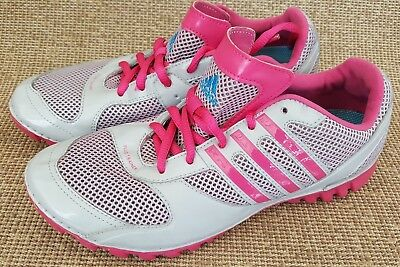 Genuine Adidas Fluid Trainer Light Mesh Grey Pink Womens Girls Size 5