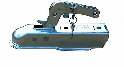 Trailer Coupling 50mm Tow Pressed Steel Hitch Integral Lock Trailers Up To 750Kg