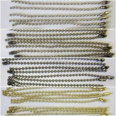 10 x 10cm Ball Chain & Connector For Scrapbooking, Key Chains, Bind & Jewellery