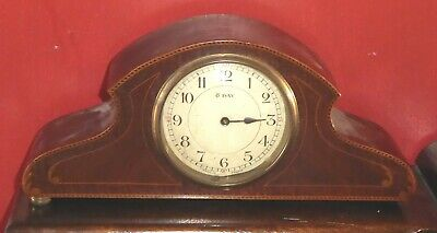 Antique French Japy Frères mantel clock, spares or repairs