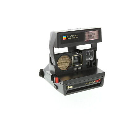 Polaroid Sun 660 Black Instant Camera With Impossible Project Film Shield (Frog)