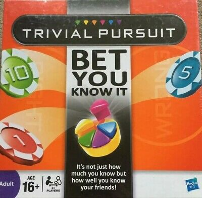 Hasbro Trivial Pursuit Bet You Know It Edition Family Board Game. 100% Complete