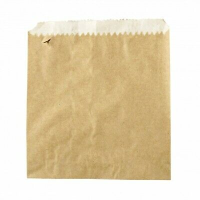 NEW Brown Greaseproof Lined Paper Bags - 175mm - 235mm - PACKET(500)