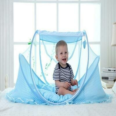 Portable Folding Solid Zipper Closure Home Baby Mosquito Net Set s2zl