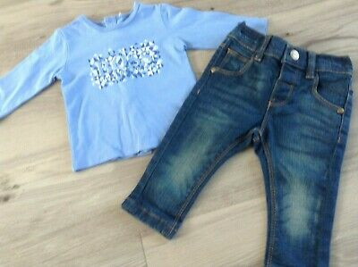 Hugo Boss Next Baby Boys Small Bundle / Outfit 3-6Mths Designer Top Jeans(C3)