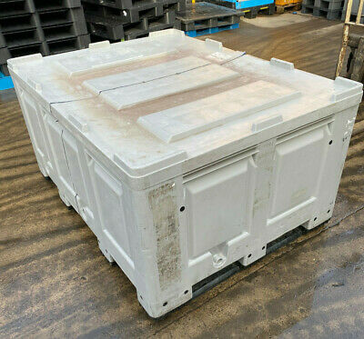 PLASTIC STORAGE PALLET BOX CONTAINER EXTENDED - 1600x1200x790 DOLAV STYLE USED