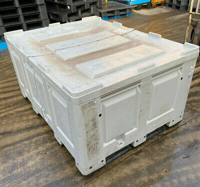 2 x PLASTIC STORAGE PALLET CONTAINER EXTENDED - 1600x1200x790 DOLAV STYLE USED