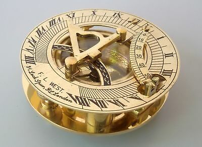 VINTAGE NAUTICAL MARITIME COLLECTIBLES BRASS SUNDIAL COMPASS Christmas Gift ITEM