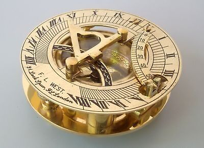 Vintage Brass Sundial Compass Antique Style Nautical Maritime Christmas Gift