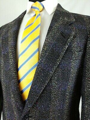 Givenchy Mens Sport Coat Blazer 2 Button Jacket 100% Wool Tweed Windowpane 38S